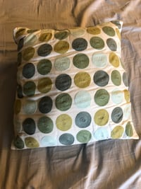 Pier One Teal & Green Polka Dot Square Pillow 68 km