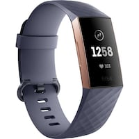 Water-Proof Fitbit Charge 3 - Activity Tracker with Heart Rate Monitor - Blue Gray Smyrna, 37167