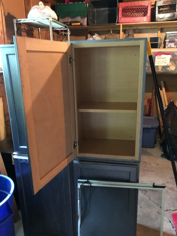"Set of 4 cabinets from Home Depot .  18"" X 29"" 3"