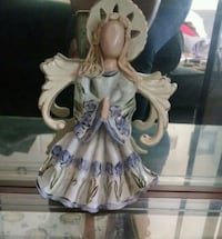 woman in white and blue dress ceramic figurine Houston, 77058