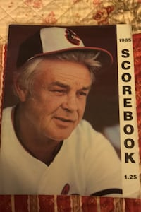 Great 1985 orioles score book clean Beltsville, 20705