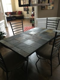 Slate tile dining table w/ 4 chairs Charlotte, 28269
