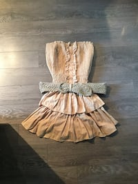 brown and white floral sleeveless dress Québec, G1C
