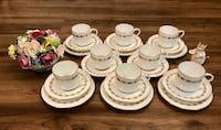 """Vintage Aynsley """"Georgetown"""" cups and saucers with dessert plates Vancouver, V5R 4H1"""