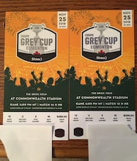 GREY CUP TICKETS GREAT SEATS! GREAT PRICE! Calgary