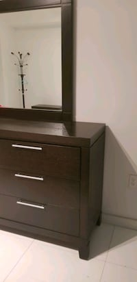 Dresser with  mirror And one night stand