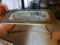 rectangular framed glass top coffee t Calgary, T2A