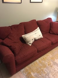 Red 3 Seater Couch Hoover, 35226