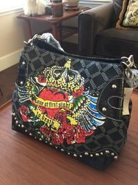 Black and red juicy couture shoulder bag