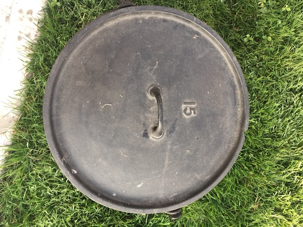 Large 15 Cast Iron Dutch Oven