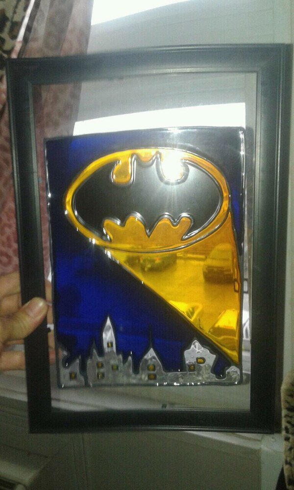 Batman stained glass art