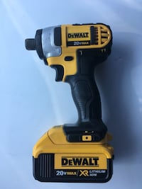 yellow and black DeWalt cordless power drill Indianapolis, 46204