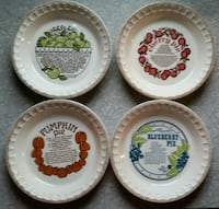Royal China Country Harvest Pie pans  Gettysburg, 17325