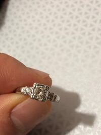 Diamond engagement ring in platinum band Falls Church, 22042