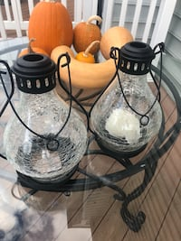 2 outdoor/indoor lanterns-black