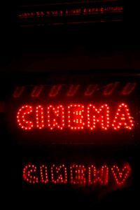 LED flashing CINEMA sign