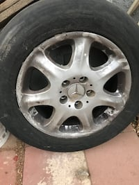 """Mercedes rim with tire 16"""" ONLY 1 AVAILABLE  Lancaster"""