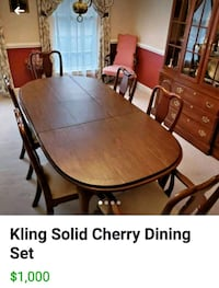 brown wooden dining table set Vienna, 22182