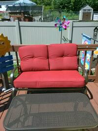 Patio set love seat and coffee table
