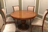 Table and 6 chairs solid wood Laval, H7T 2N6