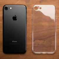 black iPhone 7 and clear case San Jose, 95113