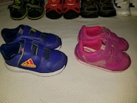 pair of purple-and-pink Adidas sneakers London, N5V 3Z7