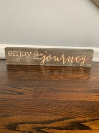 Enjoy the Journey sign 39 km