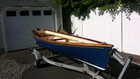 14' Fiberglsss and teak trim double row boat and sailing rig
