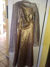 Rose Gold 8 long  strapless Gown- NEW w/ tags Stafford, 22554