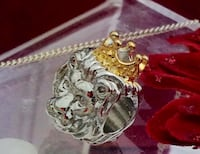 Silver and gold coloured king of the jungle lion bead fits pandora bracelet Brampton, L6R 1X5