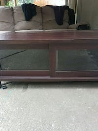 Dark cherry color coffee table or t.v stand Surrey, V3V 2L6