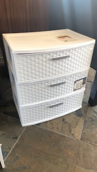 White and gray plastic 3-drawer chest Phoenix, 85018