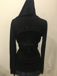 Brand new black parasuco hooded sweater size xs/s