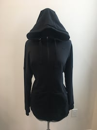 Brand new long black puma zip up hoodie size L