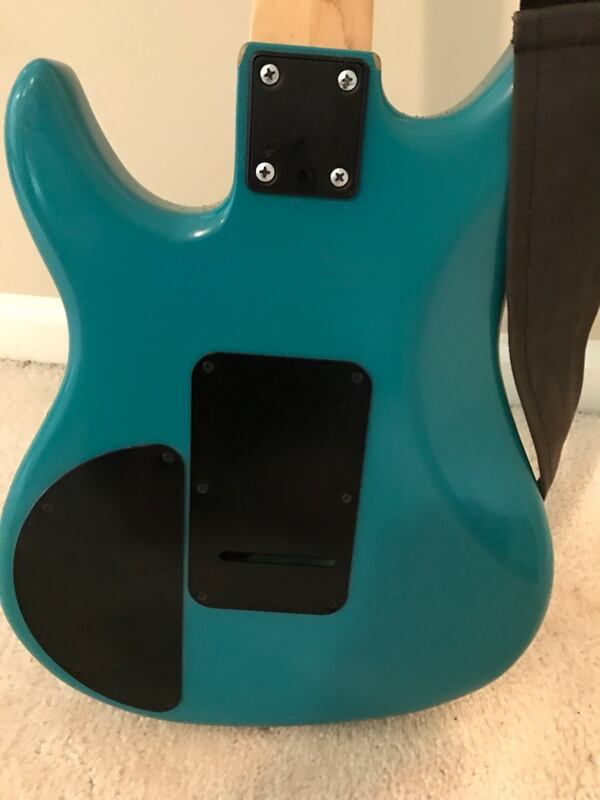 Blue-Green Peavey Patriot Electric Guitar 1