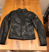 Rev'it! Black leather zip-up jacket New York, 11217