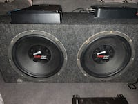 "Audiopipe 12"" subs in box with kenwood 9104d amp"