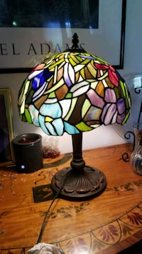 multicolored stained glass table lamp Oakland Park, 33309