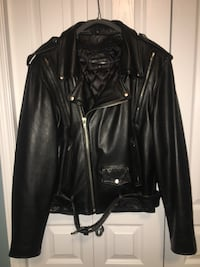 Cruiser leather motorcycle jacket made by Sofari Edmonton, T5T 5Z7