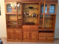 Brown wooden cabinet with hutch Ajax, L1S 3W5