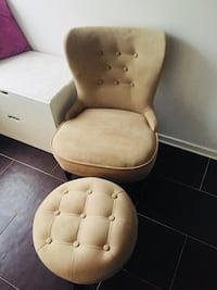 tufted beige suede soffa stol Malmö, 214 20