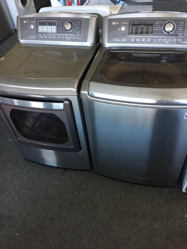 Lg top load washer dryer set with warranty