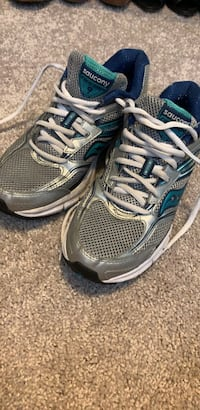 Pair of gray-and-black running shoes Johns Island, 29455