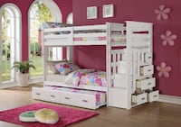 WE HAVE 3 SETS ON SOLID BUNK BEDS FOR 850$