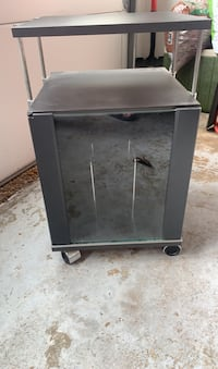 Table with glass cabinet