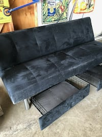 Black Twin Futon