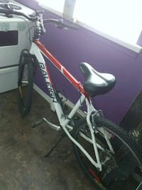 white and red hardtail mountain bike Hamilton, L8N 1Y9