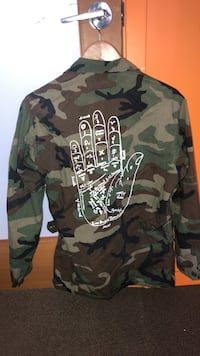 Army surplus military jacket with hand print  Burnaby, V5C 1C6