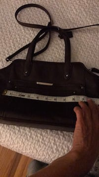 black and white leather tote bag Oswego, 13126