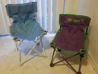two green and black camping chairs Orange, 92869